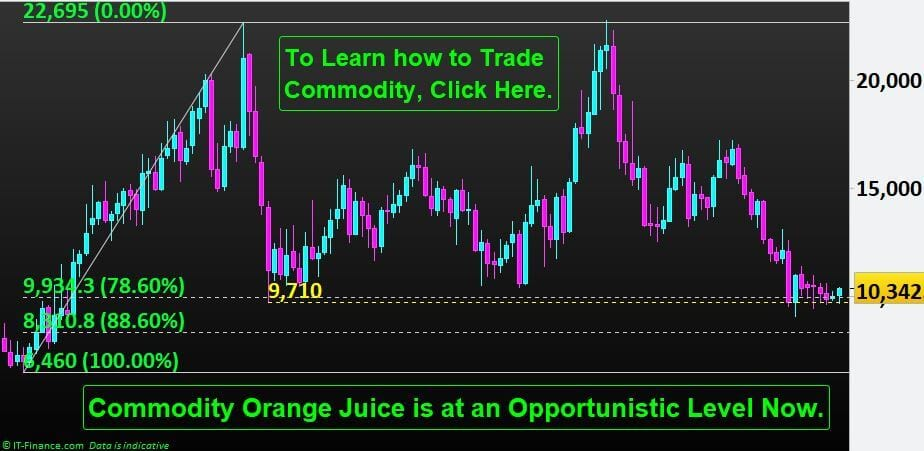 Orange Juice Commodity is at an Opportunistic Level at the end of 2019.