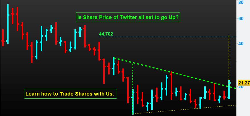 Share price of Twitter